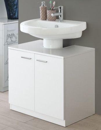 mobile da bagno copricolonna sottolavabo 70 cm bianco o
