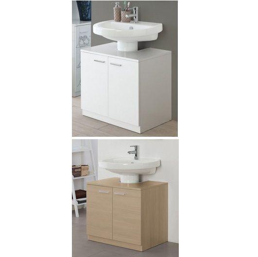 Mobile da bagno copricolonna sottolavabo 70 cm bianco o rovere chiaro 2 antecz  eBay