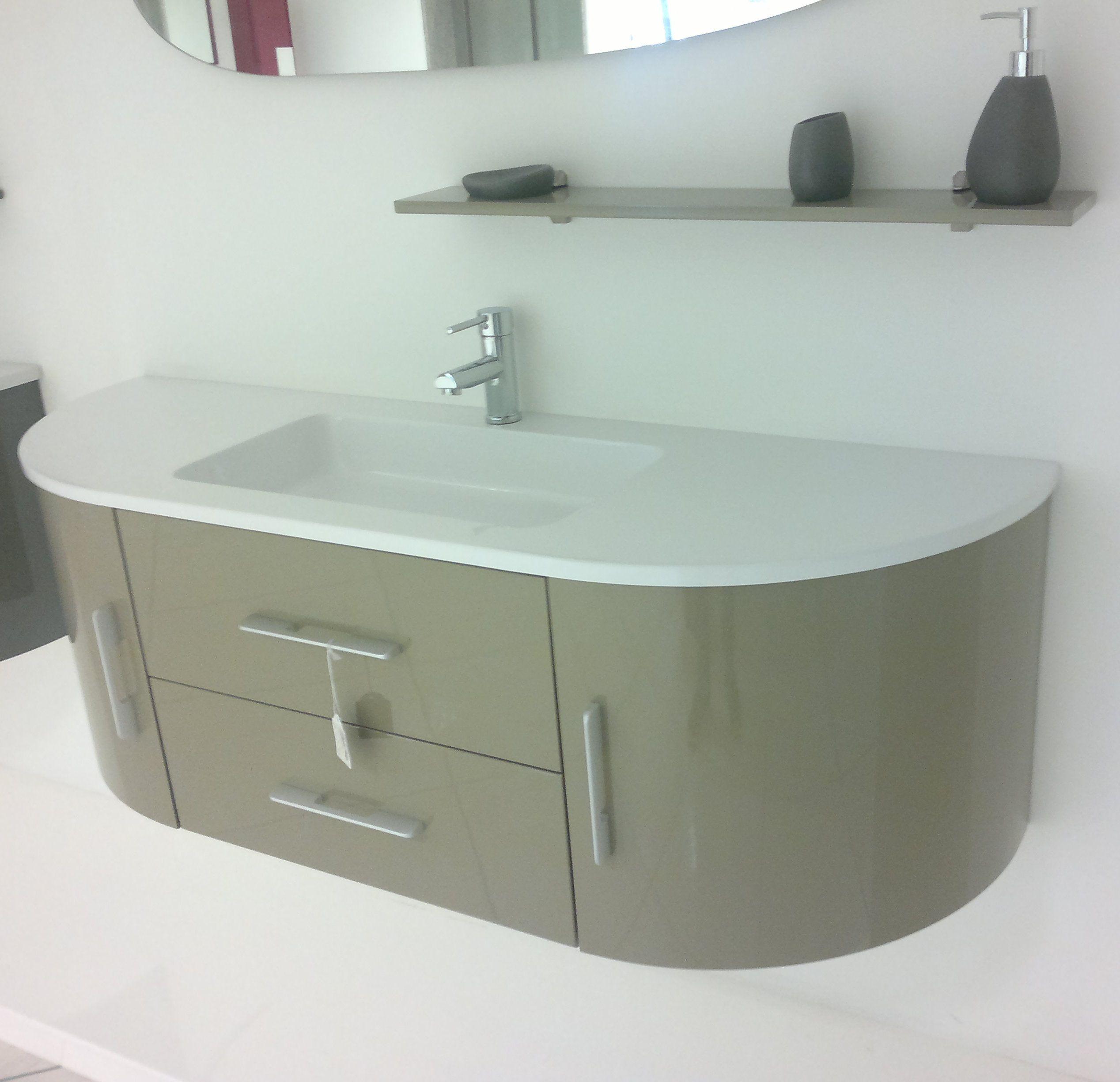 Arredobagno red mobile moderno cm 140 con specchiera e for 2 br 2 piani casa bagno