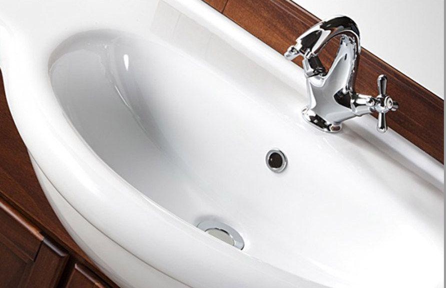 Mobile da bagno in legno massello per arredo arte povera for Arredo bagno arte povera prezzi