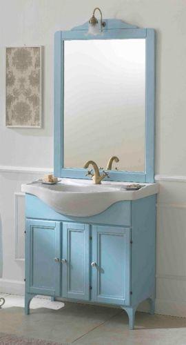 Mobile arte povera lilium cm 85 decap colore avorio offerta del mese - L arte del bagno ...