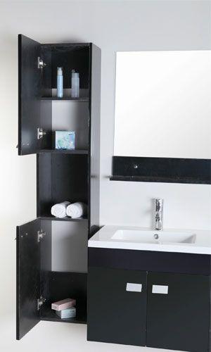 Mobile bagno lady 120 cm nero doppio lavabo in ceramica 2 - Lavabo nero bagno ...