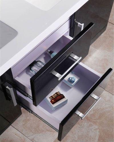 Mobile bagno taiti 120 cm bianco o nero doppio lavabo in - Bagno italia it ...