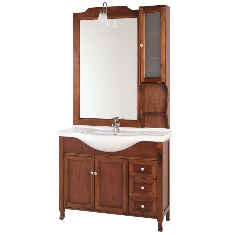 Mobile da bagno in arte povera modello br - Specchiera bagno legno ...