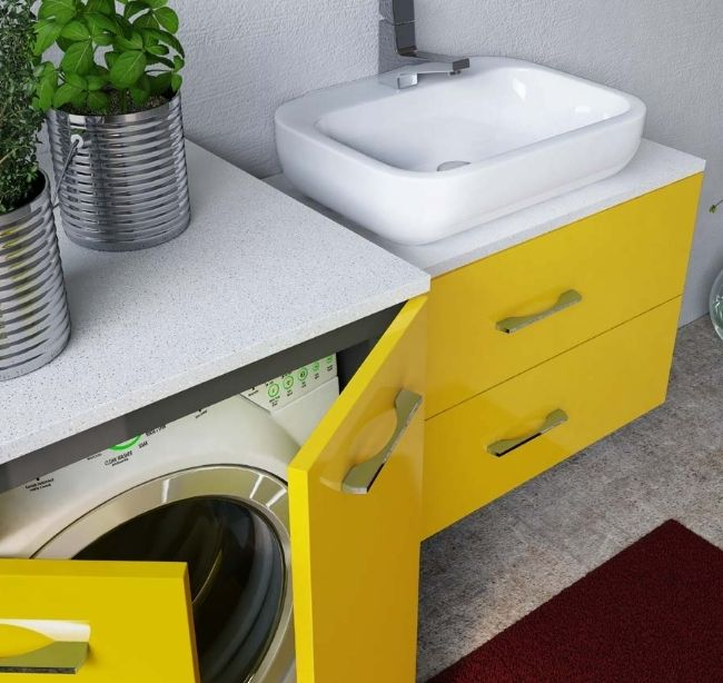Mobile bagno magic4 con coprilavatrice portalavatrice e ...