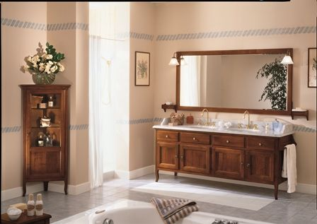 Mobile bagno arte povera canova doppio lavabo - Arredamento bagno arte povera ...