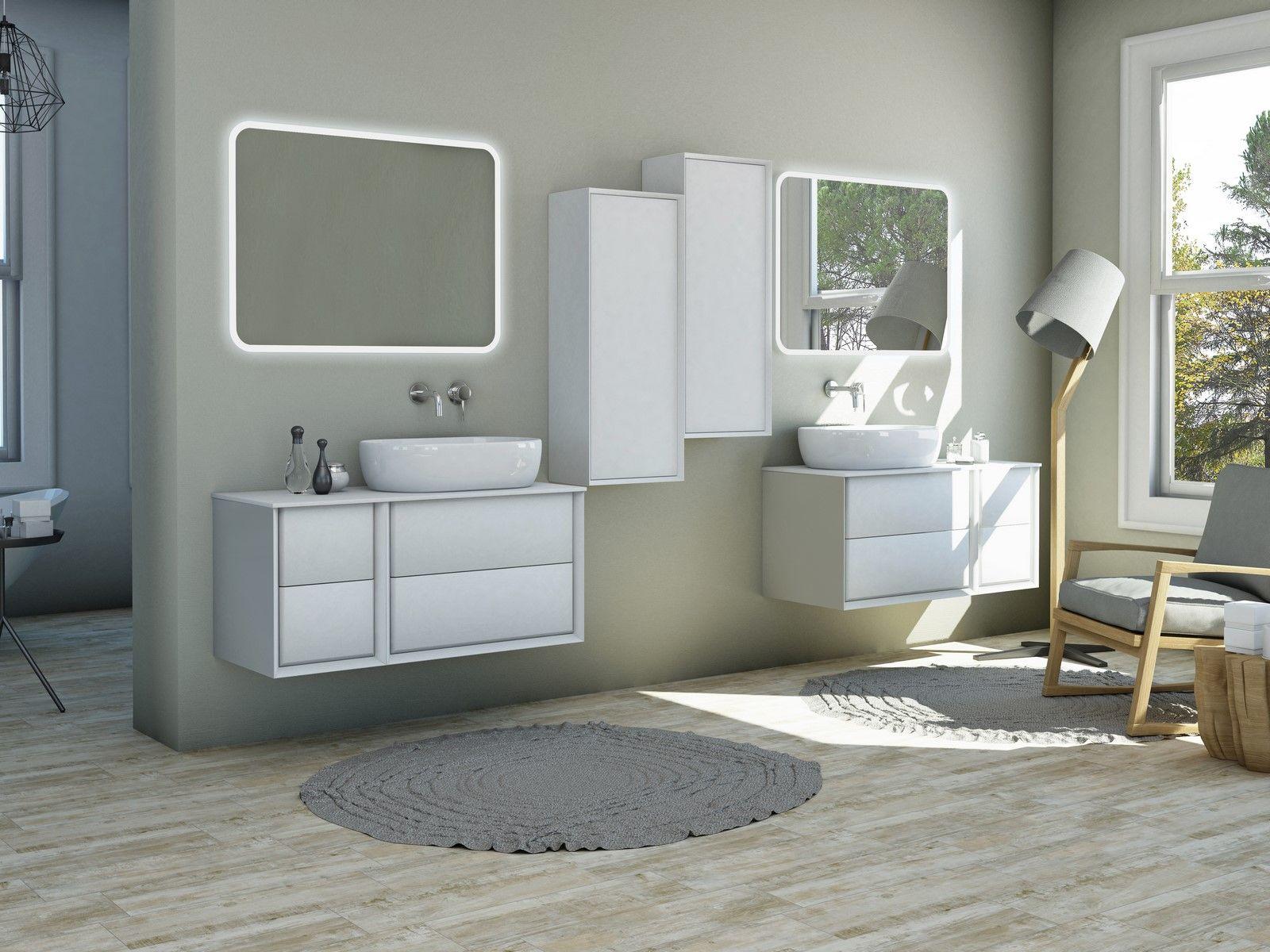 Mobile da bagno best con topo in legno mdf o in pietra for Mobile bagno bianco