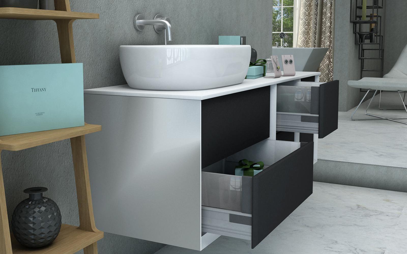 Mobile da bagno best con topo in legno mdf o in pietra for Mobile da bagno