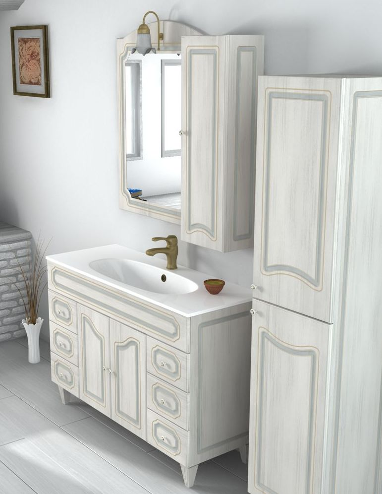 Mobile Bagno Caravan arte povera decapè da 120 cm lavabo in ceramica ...
