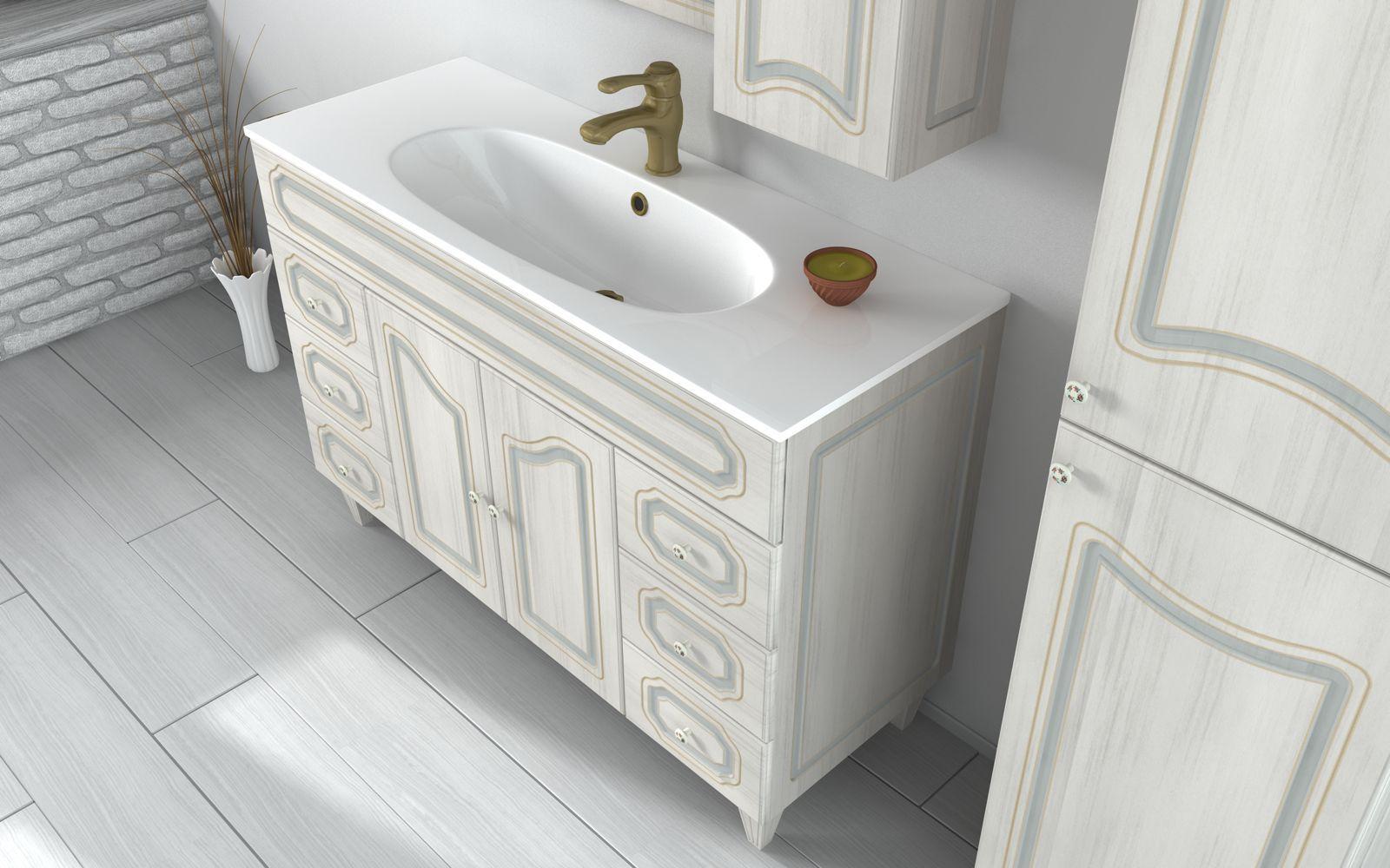 Mobili bagno decape economici design casa creativa e - Mobile bagno arte povera mondo convenienza ...
