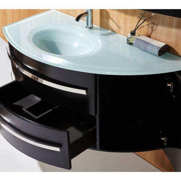 Mobile bagno desy 120 30 cm nero o bianco lavabo in for Mobile bagno colonna