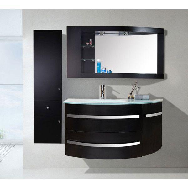Mobile bagno desy 120 30 cm nero o bianco lavabo in - Lavabo nero bagno ...