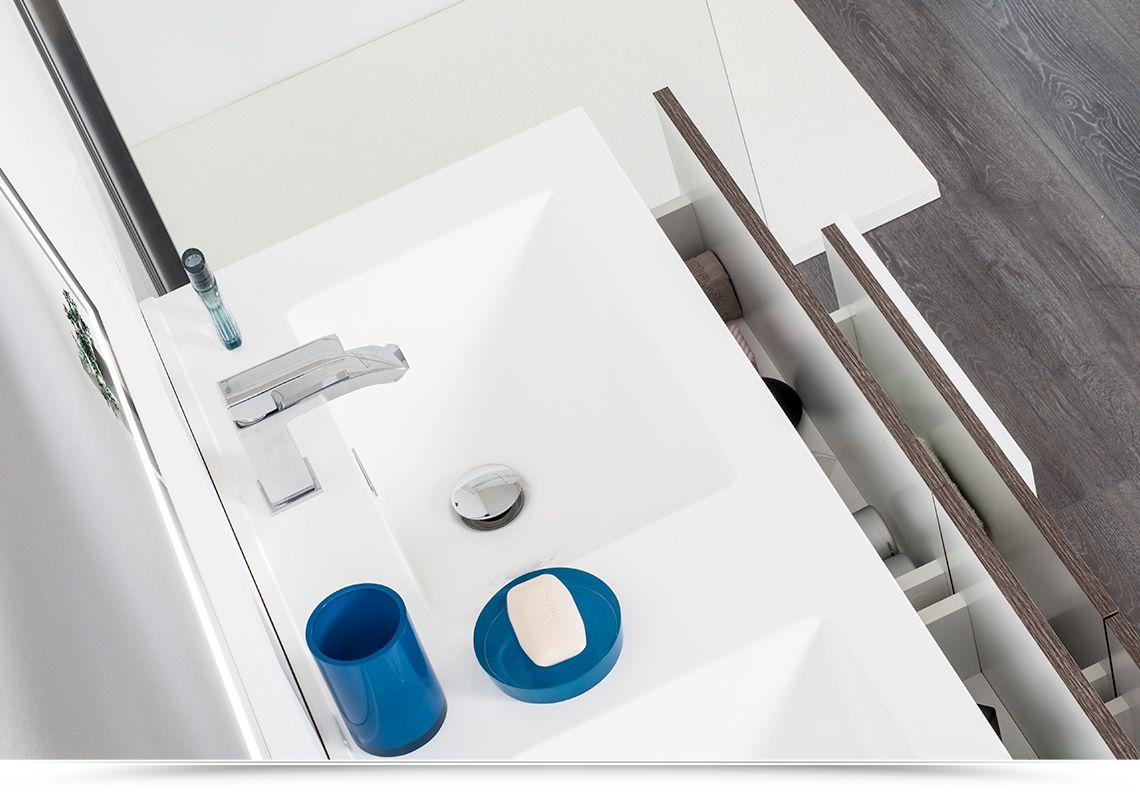 Mobile bagno energy 120 cm marrone con inserti bianchi for Mobile bagno 120 cm