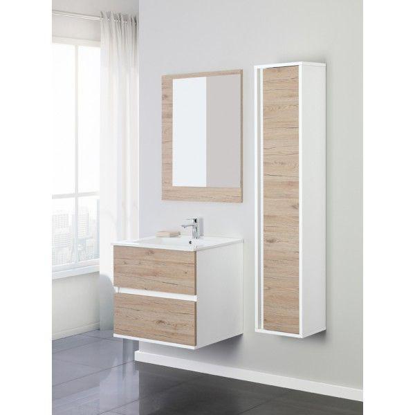 Mobile bagno fanny da 60 o 90 con cassetti o ante specchio for Mobile bagno 60
