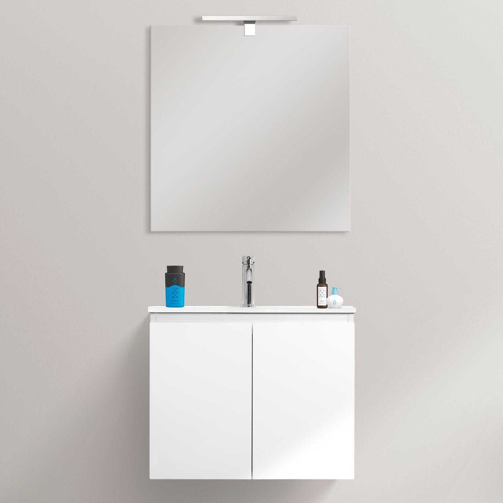 Mobile bagno Fire 60x36 ultraslim sospeso moderno lavabo in ...