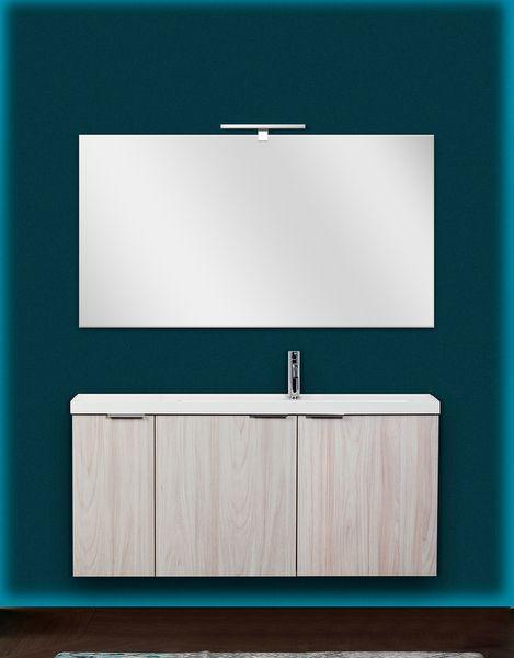 Mobile bagno moderno giglio 120 cm sospeso lavabo - Mobile bagno 120 ...