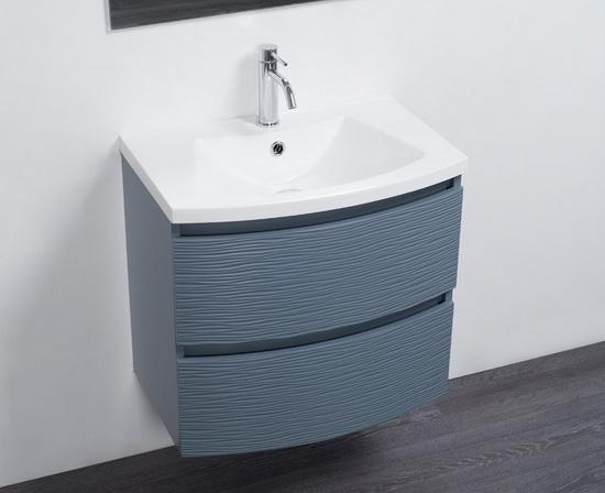 Mobile bagno small sospeso moderno in colori con specchio