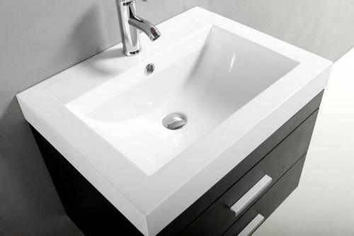 Mobile bagno arredo moderno venus 60 cm colore nero con lavabo in marmoresina con miscelatore e - Miscelatore bagno moderno ...