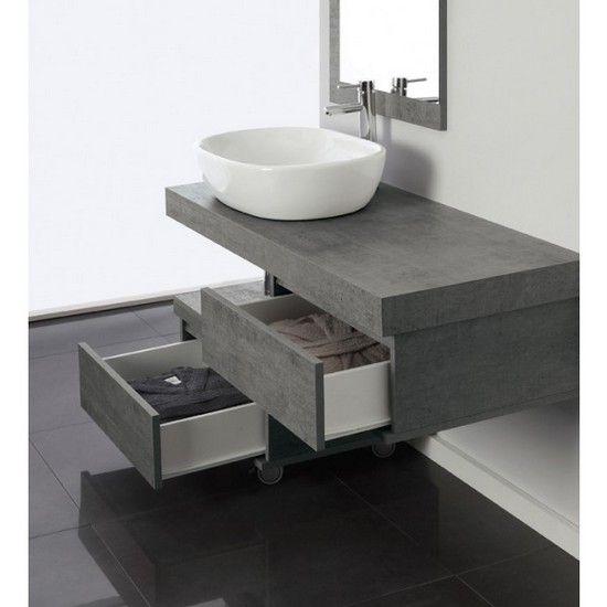 Mobile bagno pink mensola porta lavabo da cm 120 con for Mobile bagno lago prezzo