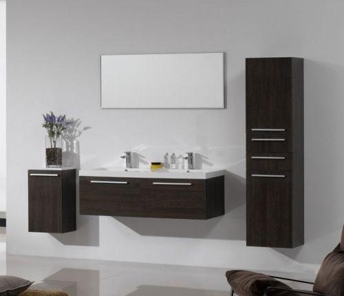 Arredo bagno mobile moderno doppio lavabo pa - Mobile angolare moderno ...