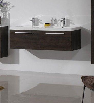 Arredo bagno mobile moderno doppio lavabo pa - Lavabo bagno resina ...