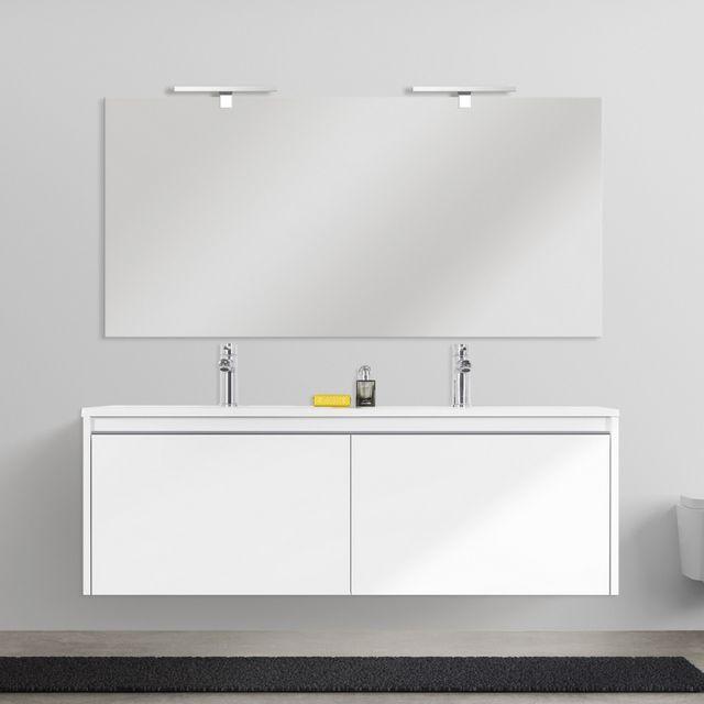 Mobile bagno moderno Yang 120 cm sospeso doppio lavabo ...