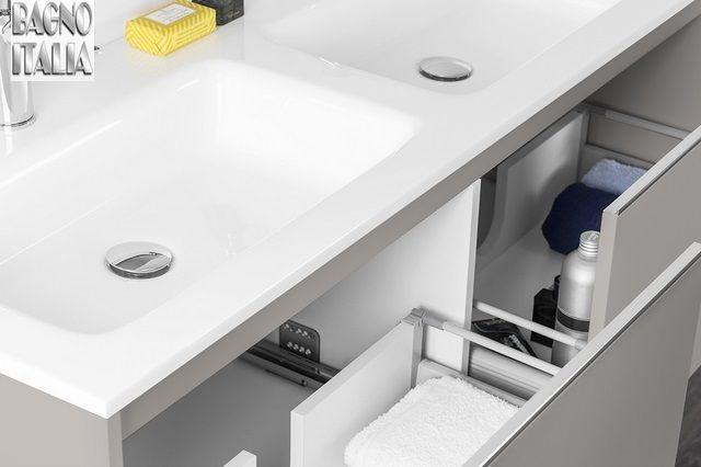 Mobile bagno moderno yang 120 cm sospeso doppio lavabo for Mobile bagno 120