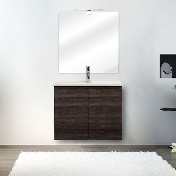 Mobile bagno fire 60x36 ultraslim sospeso moderno lavabo - Ceramica bagno moderno ...