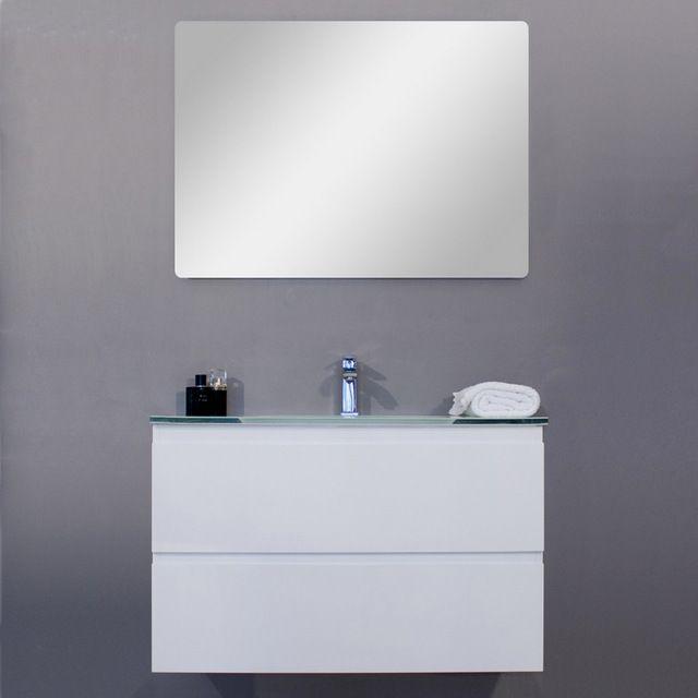 Mobile arredo bagno iride cm 60 bianco laccato con lavabo for Arredo bagno bianco