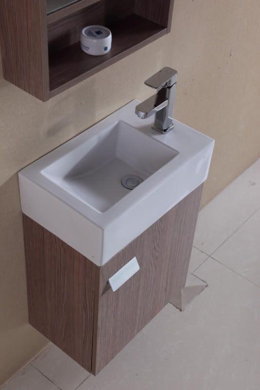 mobile arredo bagno modello minimal2 cm 46 rovere chiaro con ... - Mobile Bagno Con Lavabo E Specchio