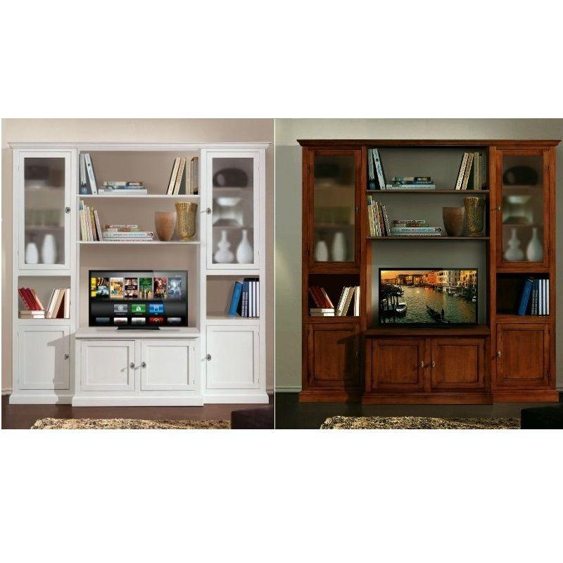 Modello Ines composito porta televisore a 2 colori opaco o lucido