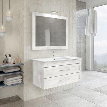 100 bagno 80 Mobile cm e ardesia arredo color specchio ...