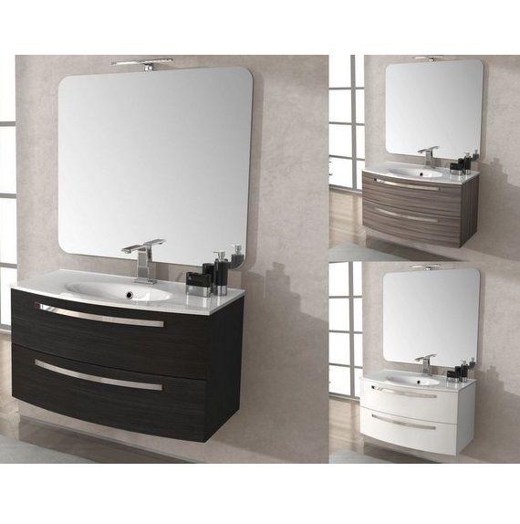 Mobile bagno stella 100 cm con lavabo colore grigio scuro for Mobili bagno 80 cm