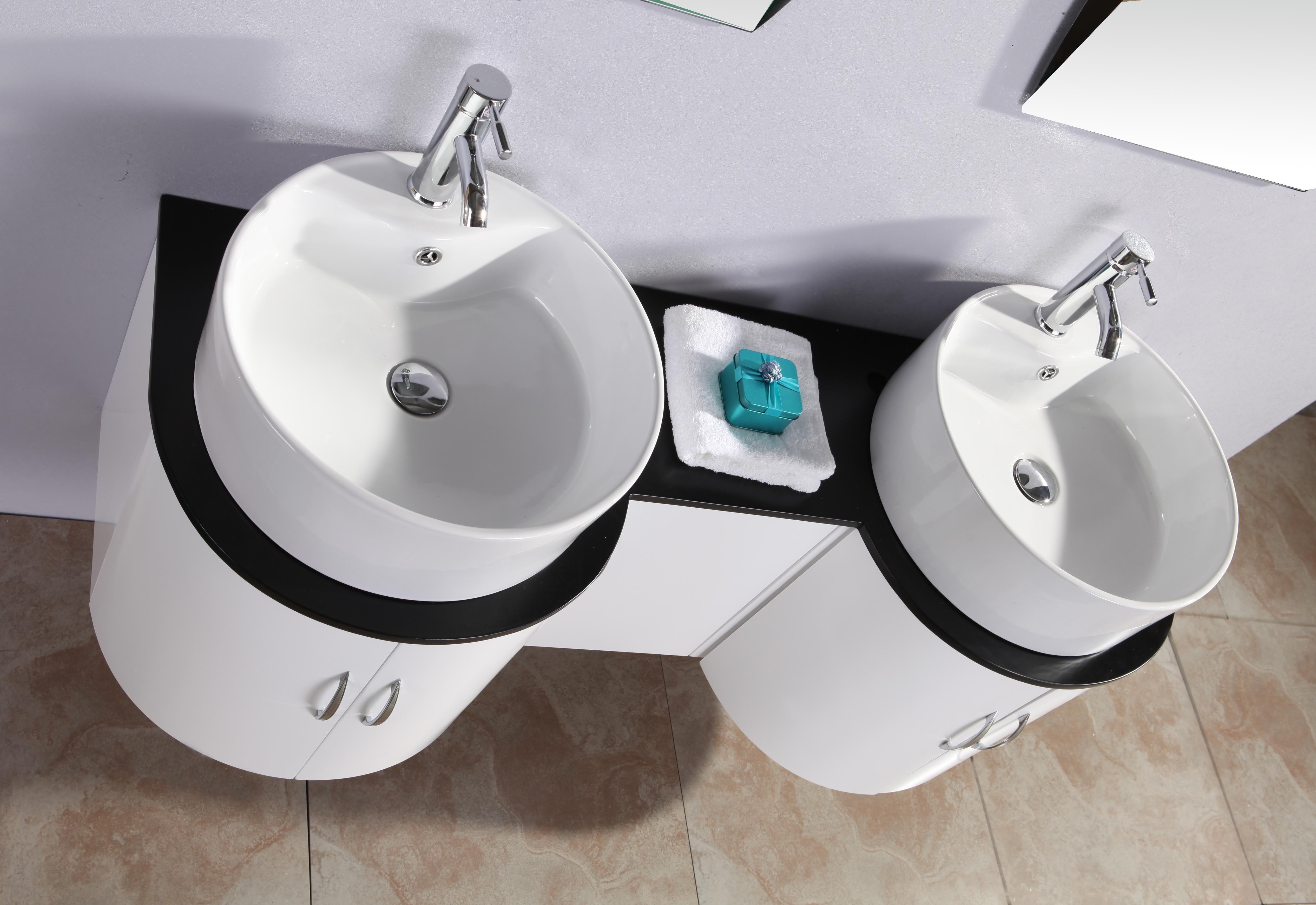 Mobile bagno tower 138 cm con doppio lavabo e specchio