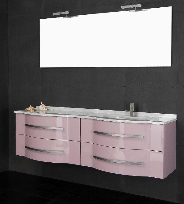 Mobile da arredo per bagno con doppio lavabo in 20 colori mobili con specchio su ebay - Mobile bagno con doppio lavabo ...