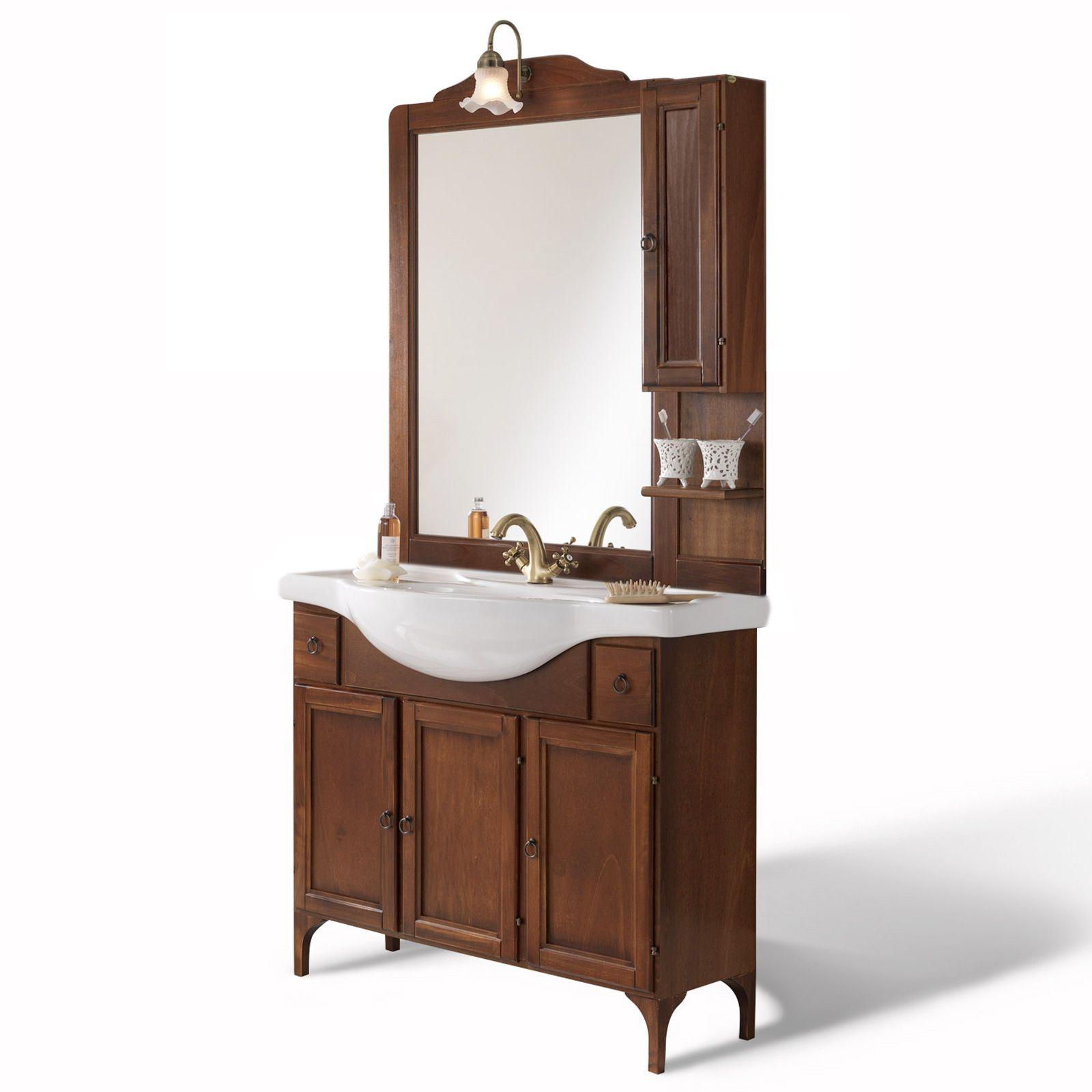 Mobile arredo da bagno arte povera cm 85 modello for Mobile da bagno