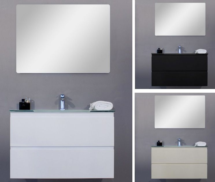 Mobile arredo bagno iride cm 70 bianco laccato con lavabo for Arredo bagno bianco