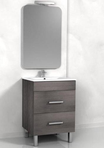 Mobile bagno sirio da 60 cm doppio cassetto e piedini a 2 for Mobile bagno 60