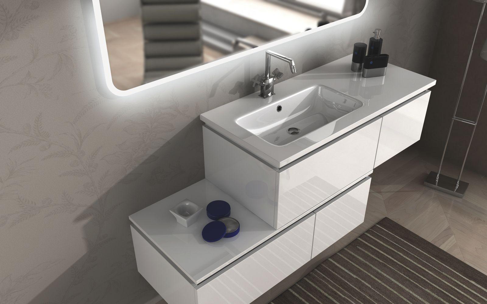 mobile arredo bagno avril 100+110 120 130 140 200 lavabo cassetto in 3 ...