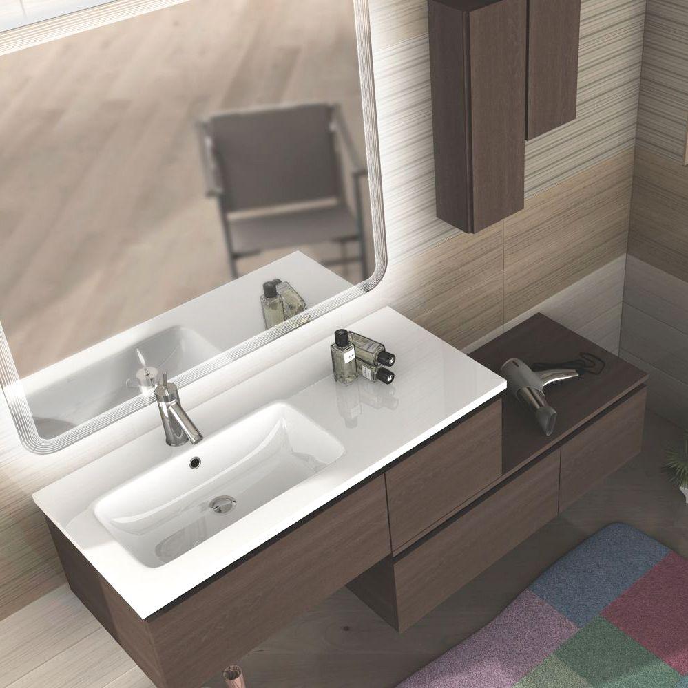 Mobile arredo bagno avril 100 110 120 130 140 200 lavabo cassetto in 3 colori fa ebay - Lavabo angolare bagno ...