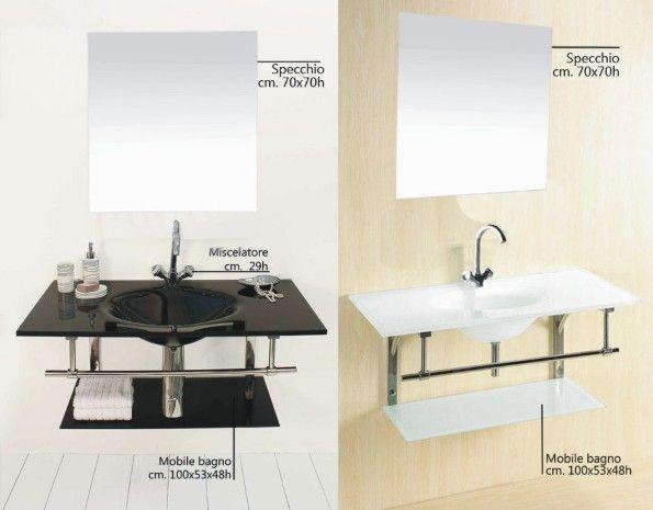 Lavabo bagno vetro perfect arredo bagno lavabo in vetro extrachiaro nuovo with lavabo bagno - Bagno arancione e bianco ...
