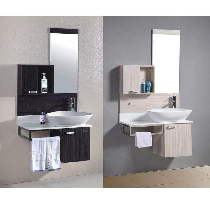 Arredo bagno topazio sospeso con lavabo d 39 appoggio pd sb - Bagno doppio lavandino ...
