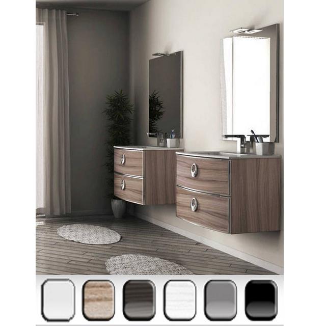 Mobile da bagno moderno dallas specchio incluso bh - Mobili laccati lucidi graffiati ...