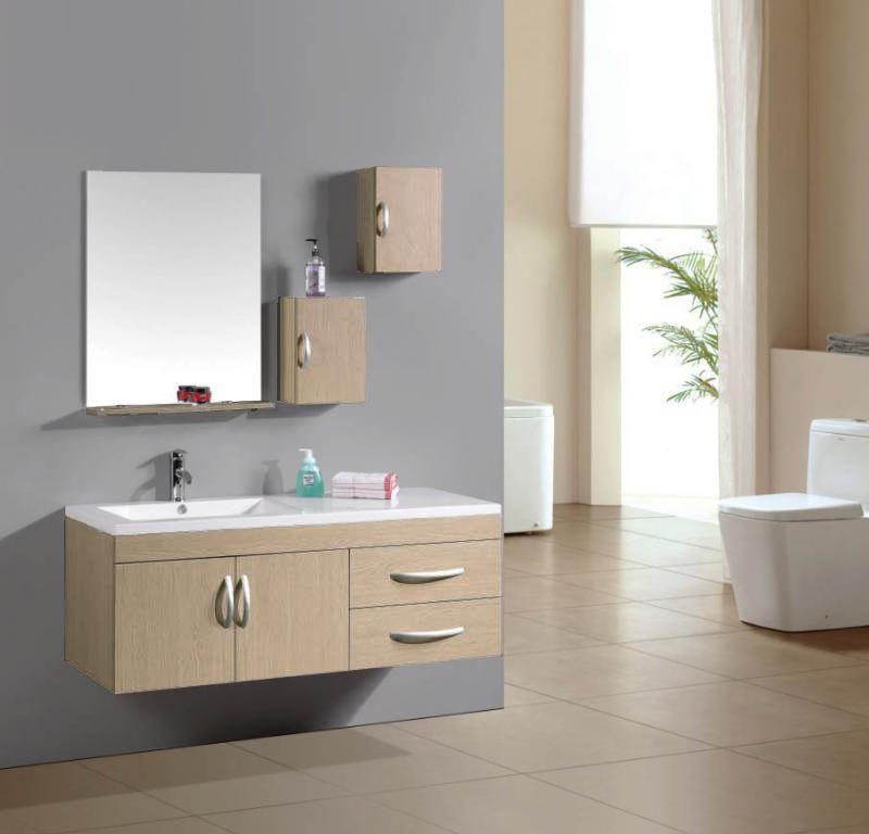 mobile da bagno moderno con lavabo decentrato a sinistra. sb - Arredo Bagno Bologna Offerte