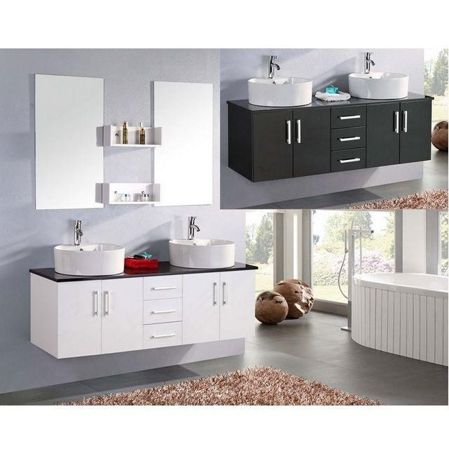 Mobile da bagno diana 150 cm doppio lavabo bianco e - Bagno doppio lavandino ...