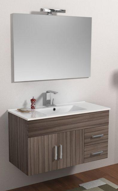 Mobile da bagno moderno isabel, con lavabo e specchio bh