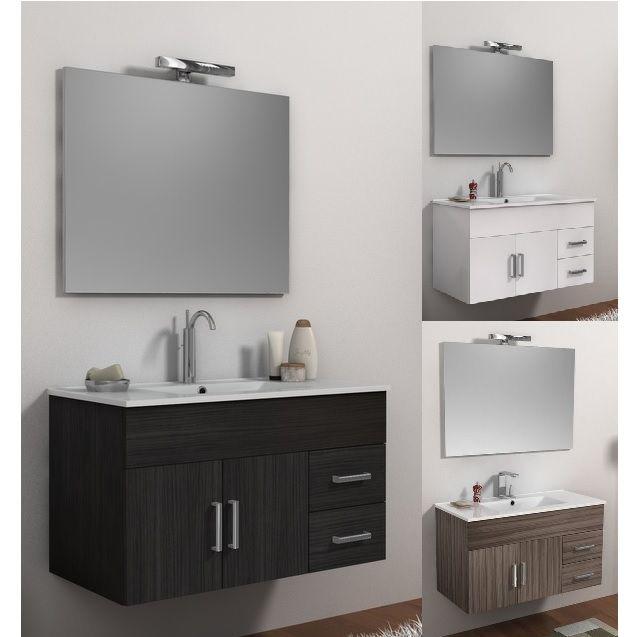 Mobile da bagno moderno isabel con lavabo e specchio bh - Mobile lavello bagno ...