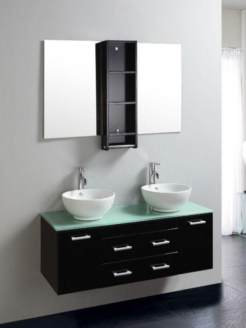 Mobile bagno james 120cm con doppio laccato nero pd - Bagno italia it ...