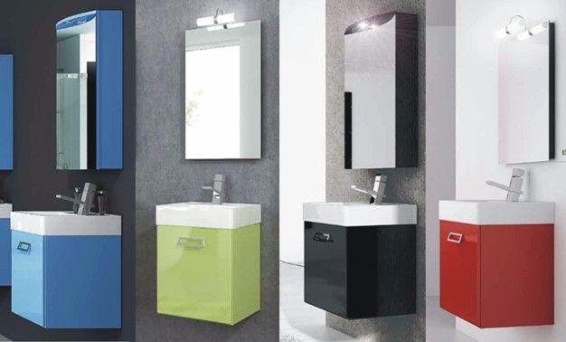 mobile bagno moderno quad, disponibile in 20 colori bb - Composizione Bagno Economico