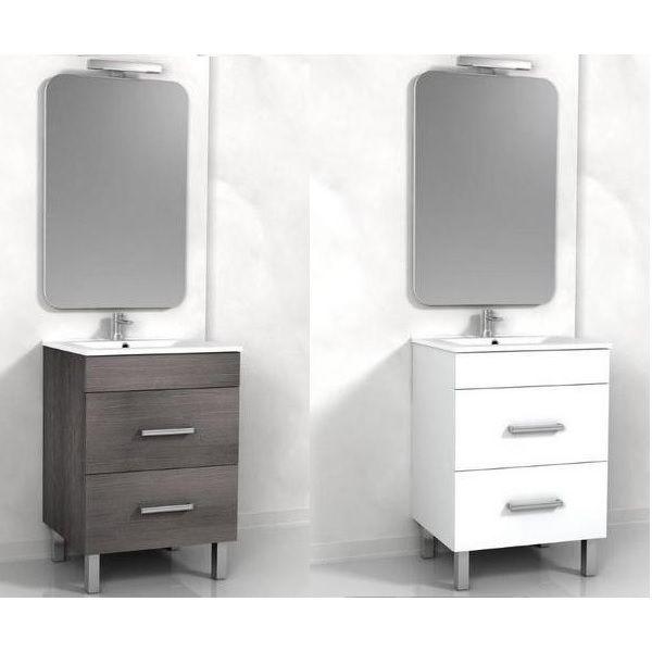 Mobile bagno sirio da 60 cm doppio cassetto e piedini a 2 colori a scelta - Mobile cassetti bagno ...